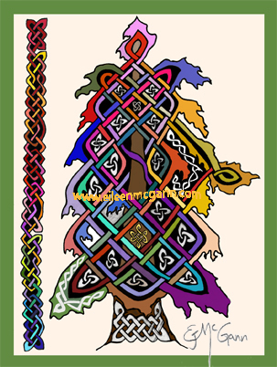 Celtic tree card