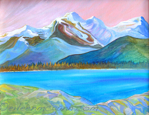 Rocky Mountain Morning acrylic